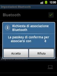 Samsung Galaxy Y - Bluetooth - Collegamento dei dispositivi - Fase 8