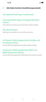 Oppo Find X2 - Gerät - Zurücksetzen auf die Werkseinstellungen - Schritt 7