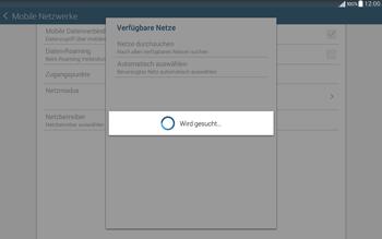 Samsung T535 Galaxy Tab 4 10.1 - Netzwerk - Manuelle Netzwerkwahl - Schritt 8