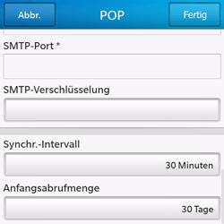 BlackBerry Q10 - E-Mail - Konto einrichten - Schritt 15