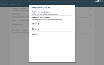 Samsung T535 Galaxy Tab 4 10.1 - Réseau - Sélection manuelle du réseau - Étape 9