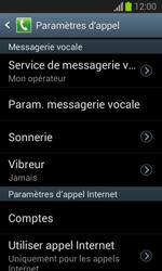 Samsung S7390 Galaxy Trend Lite - Messagerie vocale - configuration manuelle - Étape 7