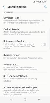Samsung Galaxy S8 - Datenschutz und Sicherheit - 'Mein Handy suchen' einschalten - 5 / 9