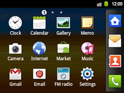 Samsung B5510 Galaxy TXT - E-mail - Sending emails - Step 3