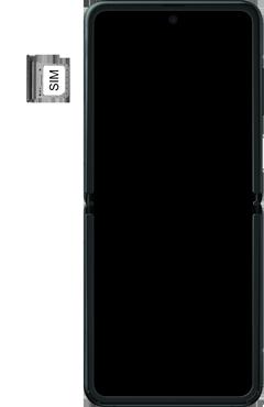 Samsung Galaxy Z Flip Single-SIM + eSIM (SM-F700F) - Instellingen aanpassen - SIM-Kaart plaatsen - Stap 4