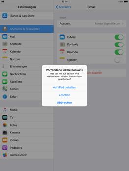 Apple iPad Air - Kontakte - Sicherheitskopie des Geräts mit OS-Konto erstellen - 1 / 1