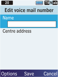 Samsung C3350 Xcover 2 - Voicemail - Manual configuration - Step 7