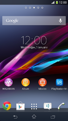 Sony Xperia Z1 Compact - Mobile phone - Resetting to factory settings - Step 1