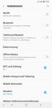 Samsung Galaxy Note 8 - Internet und Datenroaming - Prüfen, ob Datenkonnektivität aktiviert ist - Schritt 5