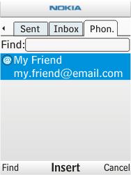 Nokia X2-00 - E-mail - Sending emails - Step 8