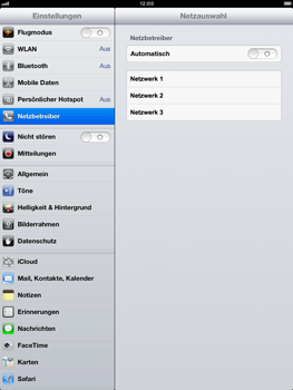 Apple iPad Retina - Netzwerk - Manuelle Netzwerkwahl - Schritt 8