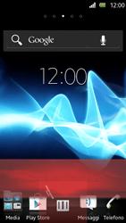 Sony Xperia U - Operazioni iniziali - Installazione di widget e applicazioni nella schermata iniziale - Fase 8