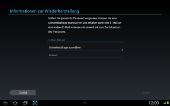 Samsung Galaxy Tab 2 10-1 - Apps - Konto anlegen und einrichten - 8 / 17