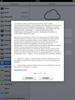 Apple iPad Retina - Applications - Configuration du service iCloud d