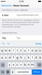 Apple iPhone SE - iOS 10 - Apps - Konto anlegen und einrichten - Schritt 14