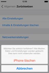 Apple iPhone 4S iOS 7 - Gerät - Zurücksetzen auf die Werkseinstellungen - Schritt 7