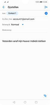 Huawei Y7 (2019) - E-mail - e-mail versturen - Stap 6