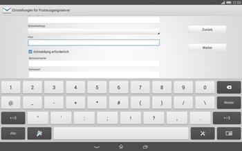Sony Xperia Tablet Z2 LTE - E-Mail - Konto einrichten - 0 / 0