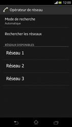 Sony Xperia V - Réseau - Sélection manuelle du réseau - Étape 8