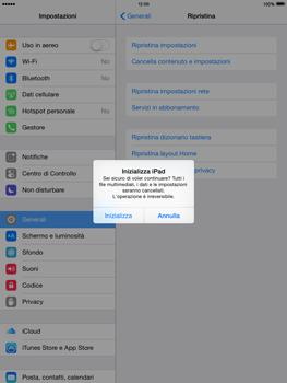 Apple iPad mini iOS 8 - Dispositivo - ripristino delle impostazioni originali - Fase 8