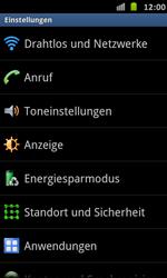 Samsung Galaxy S Advance - Internet und Datenroaming - Manuelle Konfiguration - Schritt 4