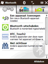 HTC T3333 Touch II - bluetooth - aanzetten - stap 6