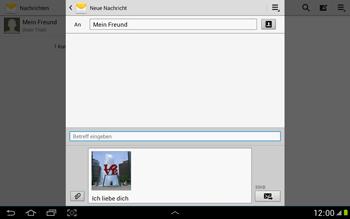 Samsung Galaxy Note 10-1 - MMS - Erstellen und senden - 18 / 21