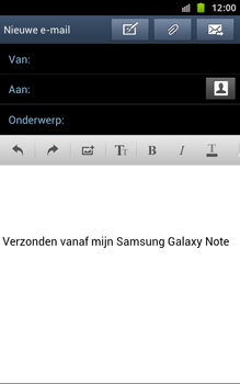 Samsung N7000 Galaxy Note - OS 4 ICS - E-mail - hoe te versturen - Stap 6