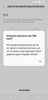 Samsung Galaxy S8 (G950) - Contacten en data - Contacten kopiëren van toestel naar SIM - Stap 13