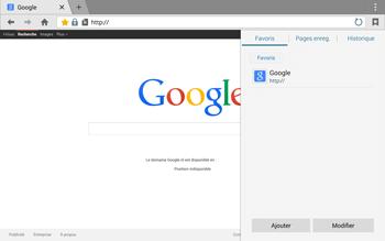 Samsung T805 Galaxy Tab S - Internet et roaming de données - Navigation sur Internet - Étape 9