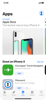 Apple iPhone X - Applications - Installing applications - Step 5