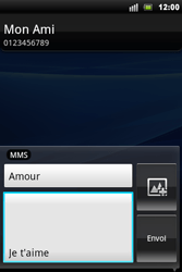 Sony Ericsson Xperia Mini Pro - MMS - envoi d'images - Étape 10