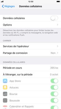 Apple iPhone 6 Plus - iOS 11 - Internet et roaming de données - Comment vérifier que la connexion des données est activée - Étape 4