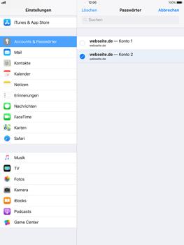 Apple iPad mini 2 - iOS 11 - Anmeldedaten hinzufügen/entfernen - 11 / 13