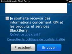 BlackBerry 9320 Curve - BlackBerry activation - BlackBerry ID activation - Étape 11