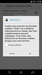 Sony Xperia Z1 Compact - Internet et roaming de données - Comment vérifier que la connexion des données est activée - Étape 7