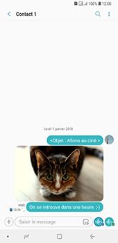 Samsung Galaxy A7 2018 - Contact, Appels, SMS/MMS - Envoyer un MMS - Étape 22