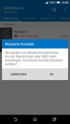 HTC One A9 - Anrufe - Anrufe blockieren - 7 / 9