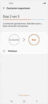 Samsung galaxy-xcover-pro-sm-g715fn - Contacten en data - Contacten kopiëren van SIM naar toestel - Stap 11