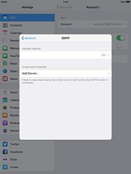 Apple iPad mini 4 iOS 10 - E-mail - Manual configuration - Step 25
