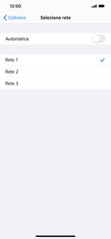Apple iPhone XS Max - iOS 13 - Rete - Selezione manuale della rete - Fase 8
