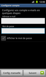 Samsung I8530 Galaxy Beam - E-mail - Configuration manuelle - Étape 5