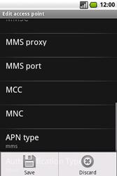 Samsung I7500 Galaxy - MMS - Manual configuration - Step 12