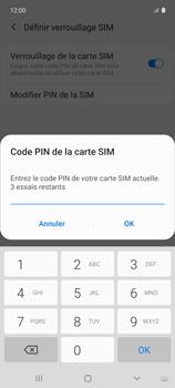 Samsung Galaxy A51 5G - Sécuriser votre mobile - Personnaliser le code PIN de votre carte SIM - Étape 8
