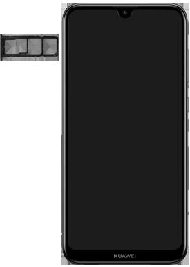 Huawei Y7 (2019) - Appareil - Insérer une carte SIM - Étape 3