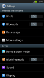 Samsung Galaxy S III - Internet and data roaming - Manual configuration - Step 4