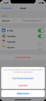 Apple iPhone X - Kontakte - Sicherheitskopie des Geräts mit OS-Konto erstellen - 1 / 1