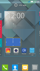 Alcatel One Touch Idol Mini - Getting started - Installing widgets and applications on your start screen - Step 5