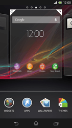 Sony Xperia Z - Getting started - Installing widgets and applications on your start screen - Step 3