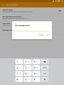 Samsung Galaxy Tab A 9.7 - SMS - Manual configuration - Step 9
